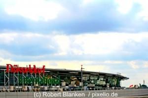 Der Düsseldorfer Flughafen.